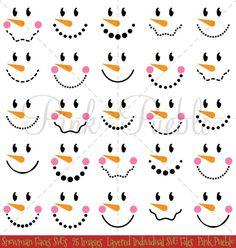 me ~ Snowman Faces Christmas Clipart Clip Art, Snowman Christmas Winter Clip Art Clipart - Commercial Use Wood Snowman, Snowman Faces, Cute Snowman, Snowman Crafts, Snowman Hat, Snowman Wreath, Primitive Christmas, Christmas Snowman, Christmas Crafts
