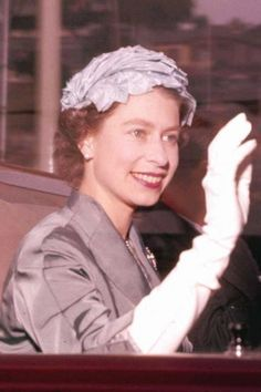 Queen Elizabeth II has always been a fan of gloves. And here she is in 1957 wearing another pair.