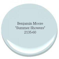 Benjamin Moore Summer Shower Coastal Farmhouse Paint Color