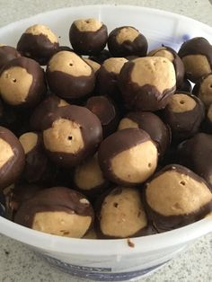 [homemade] bucket O'Buckeyes #recipes #food #cooking #delicious #foodie #foodrecipes #cook #recipe #health