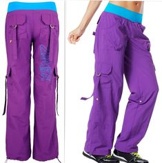 ZUMBA Dance Fitness CARGO PANTS - CONVERTS TO CAPRIS RARE!! FR. U.K.  Convention ca75856d127