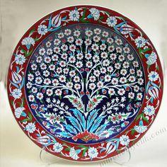 Turkish Plates, Turkish Tiles, Turkish Art, Ceramic Plates, Ceramic Pottery, Decorative Plates, Tile Art, Mosaic Art, Islamic Art