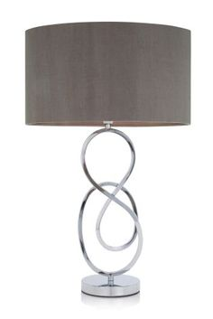 A sculptural grey table lamp gives a modern final touch to the assortment of accessories on this hallway console table. We like the abstract swirls on the Sculpture Table Lamp (Next, Bedside Lamps Grey, Grey Table Lamps, Light Table, Touch Lamp, Loft Room, Light Fittings, Home Lighting, Lighting Ideas, Floor Lamp