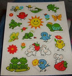 vintage stickers hallmark CUTE INSECTS and tiny by BarginBag, $3.00