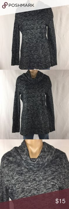 "WOMENS MERONA COWL NECK SWEATER TUNIC MEDIUM WOMENS ~ MERONA ~ COWL NECK ~ BLACK & WHITE ~ LIGHT SWEATER TUNIC ~ SIZE MEDIUM   MATERIAL ~ 64% COTTON                        36% POLYESTER   MEASUREMENTS ~ UNDERARM TO UNDERARM ~ 19"" LENGTH ~ SHOULDER TO HEM ~ 30"" Merona Sweaters Cowl & Turtlenecks"