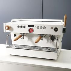Turn and pull. Two steaming options on this clean and simple Linea PB for the crew at Little Flock, soon to be opening in… Small Coffee Shop, Great Coffee, My Coffee, Cappuccino Maker, Coffee Maker, Coffee Carts, Coffee Shops, Coffee Business, Coffee Accessories