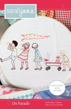 Embroidery Pattern Ironon Transfer On Parade by sarahjanestudios, $6.00