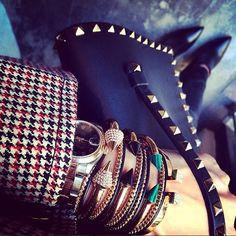Vita Fede designer Cynthia Sakai's wrist stack.