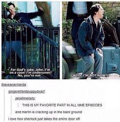 John Watson - Martin Freeman and Sherlock Holmes - Benedict Cumberbatch Sherlock John, Sherlock Fandom, Jim Moriarty, Watson Sherlock, Sherlock Quotes, Sherlock Holmes Bbc, Sherlock Holmes Funny, Sherlock Humor, Sherlock Comic