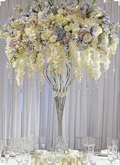 Amazon.com: Luyue 3.18 Feet Artificial Silk Wisteria Vine Ratta Silk Hanging Flower Wedding Decor,6 Pieces,White (White): Home & Kitchen
