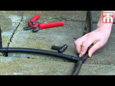 How to install an automated drip irrigation system video