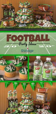 From personalized banners to festive tableware, the perfect football party or tailgate starts with the right decorations! From personalized banners to festive tableware, the perfect football party or tailgate starts with the right decorations! Football Party Supplies, Football Party Foods, Football Birthday, Football Food, College Football, Flag Football Party, Kids Football Parties, Razorback Party, Football Videos