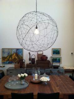 DIY wire chandelier - maybe spray paint it