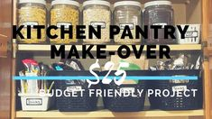 Check out how I Organized my Kitchen Cabinet for less than $25!!
