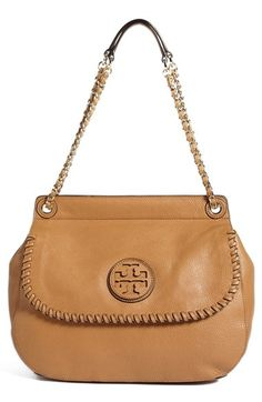Tory Burch 'Marion' Leather Saddlebag available at #Nordstrom