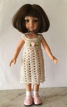 ROBE BLANCHE AU CROCHET POUR POUPÉES PAOLA REINA ET CHÉRIES : Jeux, jouets par marsanna-creations-broderies
