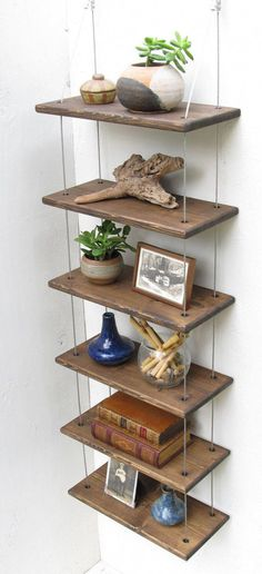 shelves industrial shelves wall shelves by designershelving #DiyFurniturePlansTools