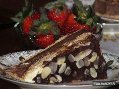 Szybkie czarno-białe ciasto na zimno