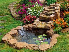 Dicas de lagos e cascatas para jardim lagos artificiais for Laghetti ornamentali