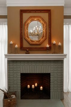 Distress a painted brick fireplace how to paint your brick fireplace painting brick fireplace white how to paint fireplace mantel distress a painted brick fireplacePainted Brick Fireplace Makeover How Tos. Black Brick Fireplace, Painted Fireplace Mantels, Painted Brick Fireplaces, Paint Fireplace, Brick Fireplace Makeover, Old Fireplace, Fireplace Surrounds, Fireplace Ideas, Paint Brick