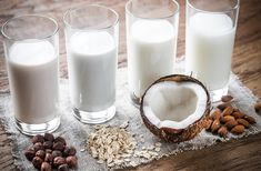 Got milk alternatives? These delicious, nutritious and lactose-free milk alternatives taste so amazing they're bound to make you forget all about dairy. Lactose Free Milk, Milk Dairy, Hemp Milk, Milk Alternatives, Cashew Milk, Soy Milk, Almond Milk, Vegan Milk, Plant Based Milk