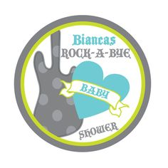 personalized rock baby shower supplies