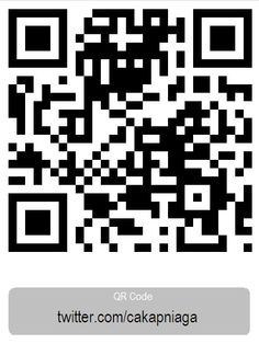 This pin illustrates the QR Code for https://twitter.com/cakapniaag