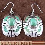 Southwest Turquoise Genuine Sterling Silver Earrings Jewelry