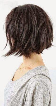 37 Short Choppy Layered Haircuts – Messy Bob Hairstyles Trends for Autumn/Winter – Short Bob Cuts - New Site Short Choppy Layered Haircuts, Angled Bob Hairstyles, Hairstyles Haircuts, Short Bobs, Choppy Haircuts, Elegant Hairstyles, Choppy Layers, Womens Bob Hairstyles, Short Bob Styles