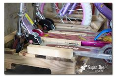 Scooter and Bike Rack - Sugar Bee Crafts