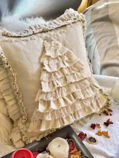 Excited to share this item from my shop: Merry Christmas Tree Custom Pillows Cover with Ruffles Canvas Case Lace Shabby French Country Farmhouse Wedding Birthday Christmas Gi French Country Christmas, French Country Farmhouse, Shabby Chic Christmas, French Country Decorating, French Country Bedding, Merry Christmas, Lace Christmas Tree, Christmas Stockings, Christmas Decor