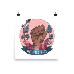 We Will Rise - feminist watercolor print in pink  - Thumbnail 2