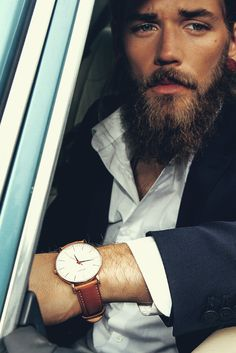 The classic slim wrist watch: Marron top grain Italian calf leather strap – Brathwait