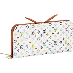 LOUIS VUITTON MONOGRAM MULTICOLORE INSOLITE WALLET M60270 - Monogram Multicolore canvas, grained leather lining, golden brass pieces and rivets  - Zipper and double press stud closure  - Two inside zipped pockets  - Two flat pockets for papers  - Twelve credit card slots  - Leather zipper pulls  - D-ring to attach the wallet to a bag with an optional golden chain