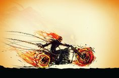 Hellfire of a Ride (Ghost Rider)  Created by Justin Currie