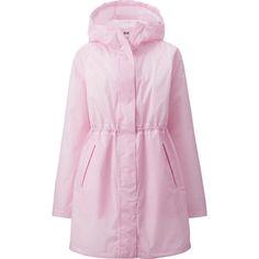pink xs WOMEN WATERPROOF POCKETABLE COAT   UNIQLO
