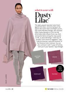 2015 INStyle Color Crash Course Guide 2015 dusty lilac