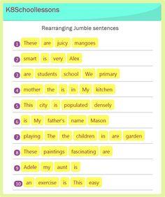 rearrange sentence worksheets year 1 - Google Search | grade1 ...