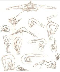 Bild von Kunst, Tanz und Gymnastik - Makaron - Sport Image of art dance and gymnastics Makaron Ballet Drawings, Dancing Drawings, Art Drawings Sketches, Cool Drawings, Pencil Drawings, Dancing Sketch, Contour Drawings, Interesting Drawings, Charcoal Drawings