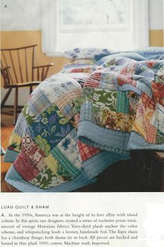 Island Patchwork Quilt Amp Sham Pottery Barn Home Sweet