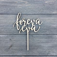 Cake topper?   Foreva Eva Wedding Cake Topper 6.5W inches Forever