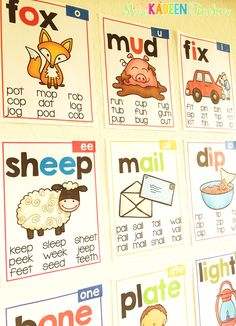 Great idea for using phonics posters ! Post throughout your class so students can use to spell different words and remember the patterns.