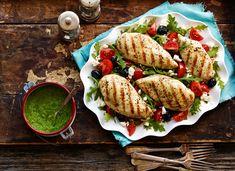 Grilled chicken on arugula salad. Photo by Steve Krug.