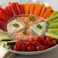 Receta de Botana de Verduras con Dip de Ostion