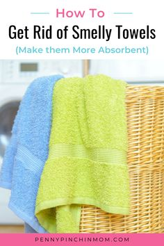 Do you have smelly towels? Are they not quite as absorbent as they use to be? There is a simple trick I use to remove the smell from towels. And, it just takes TWO simple products.