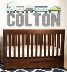 CUSTOM Name   Train WALL DECAL by TheLovelyWall on Etsy, $52.00