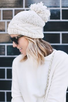 Pin It To WIN IT - The Pommed Peak Beanie from @Anthropologie #12daysofdamsel