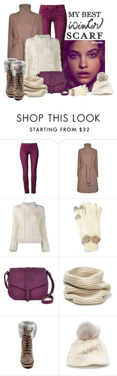 """nr 631 / Winter Scarf"" by kornitka ❤ liked on Polyvore featuring One Green Elephant, Ted Baker, Ganni, Betsey Johnson, A.N.A, Lafayette 148 New York, Manas, SIJJL and winterscarf"
