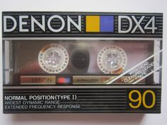 CASSETTE TAPE BLANK SEALED - 1x (one) DENON DX4 90  1988  audio vintage