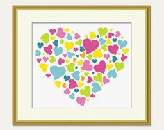 Scheme for Cross stitch Heart Cross stitch от PatternStitchShop